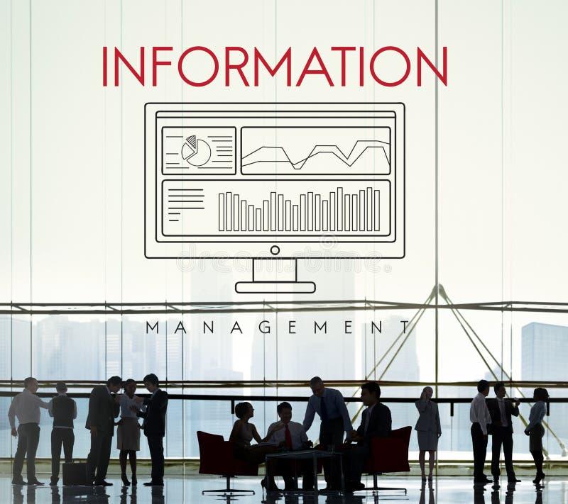 De Zaken van Analytics van informatiegegevens vloeien Concept voort royalty-vrije stock afbeelding
