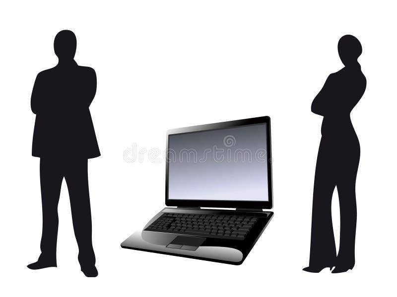 De zaken van de computer vector illustratie