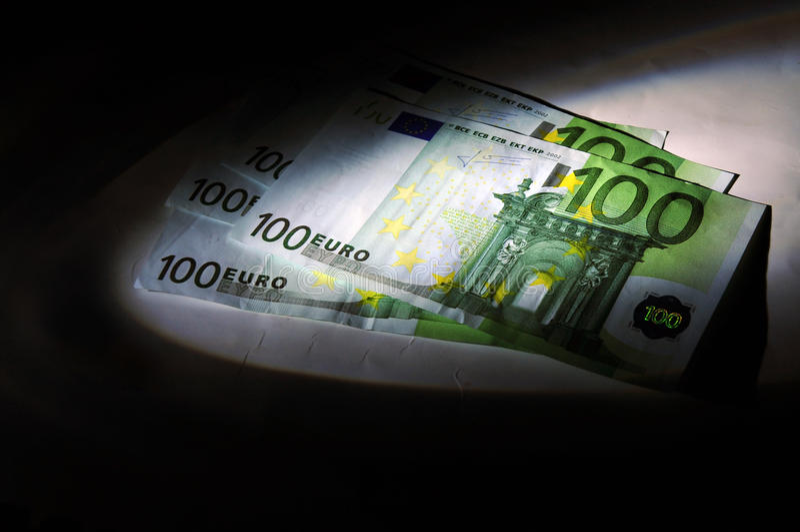 De zaken van de fraude, verborgen geld stock afbeeldingen
