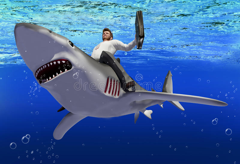 De zaken van de haai. royalty-vrije illustratie