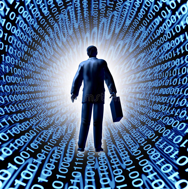 De Zaken van de technologie royalty-vrije illustratie