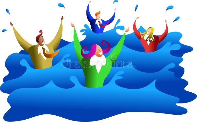 De zaken van de verdrinking stock illustratie