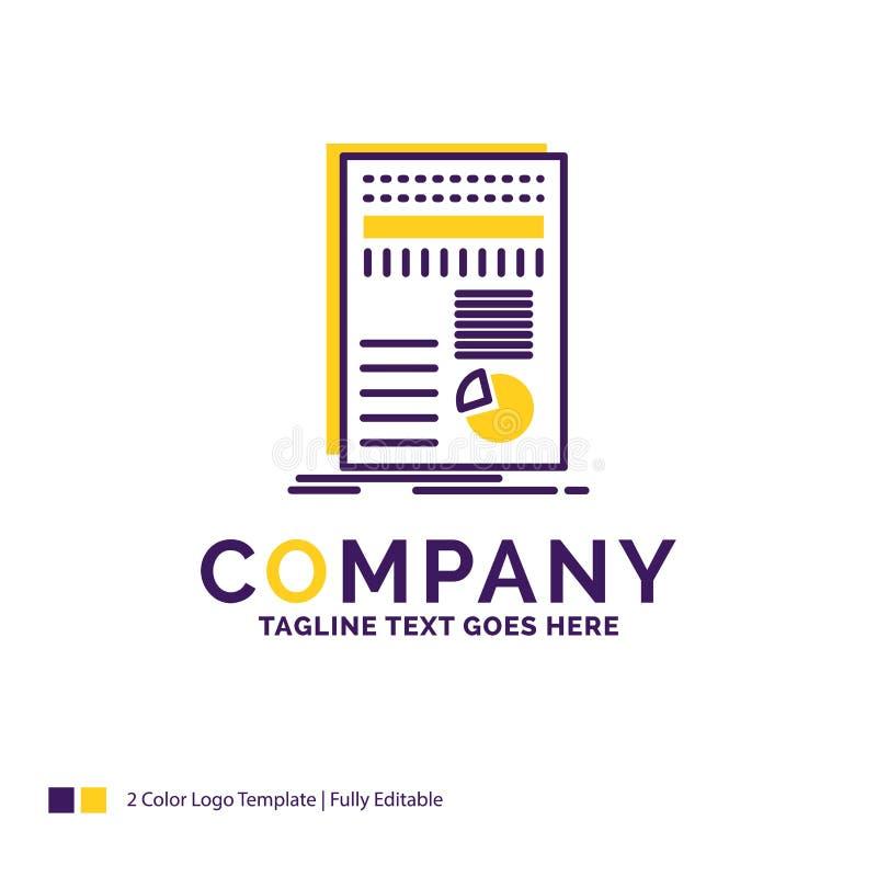 De zaken van Firmanaamlogo design for, gegevens, financiën, rapport, st royalty-vrije illustratie