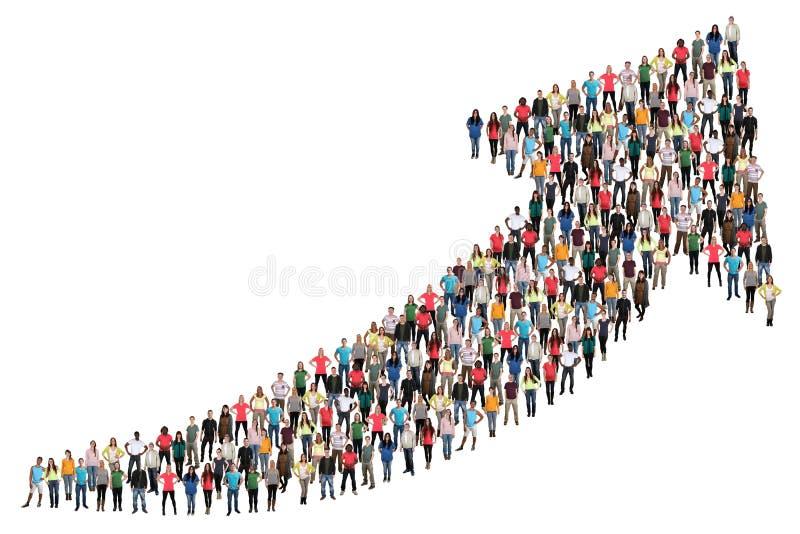 De zaken van het groeps mensen succes verbeteren de succesvolle groei marke