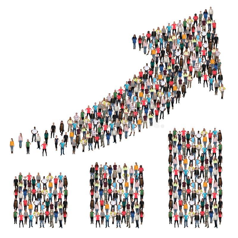 De zaken van het groeps mensen succes verbeteren succesvolle de groeigrafiek royalty-vrije stock foto