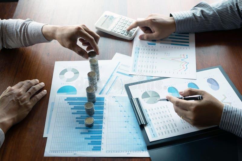 De zaken van het symboolmuntstuk, financi?n, de financi?le groei, investering het raadplegen, financi?n, investering, zaken, het  royalty-vrije stock fotografie
