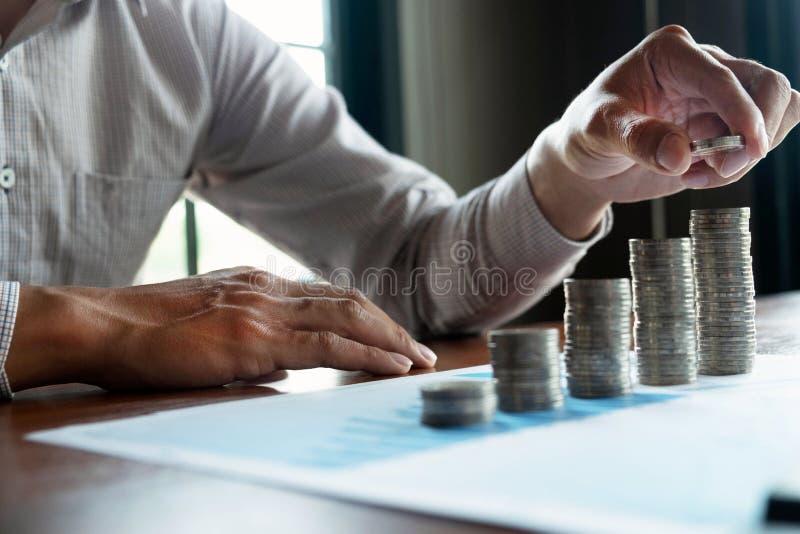 De zaken van het symboolmuntstuk, financi?n, de financi?le groei, investering het raadplegen, financi?n, investering, zaken, het  royalty-vrije stock afbeelding