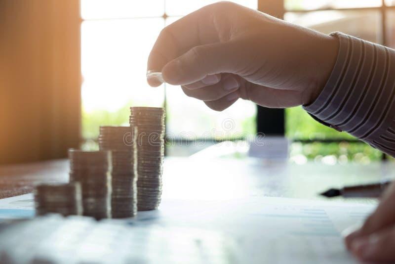 De zaken van het symboolmuntstuk, financi?n, de financi?le groei, investering het raadplegen, financi?n, investering, zaken, het  royalty-vrije stock foto's