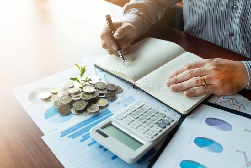 De zaken van het symboolmuntstuk, financi?n, de financi?le groei, investering het raadplegen, financi?n, investering, zaken, het  stock afbeelding