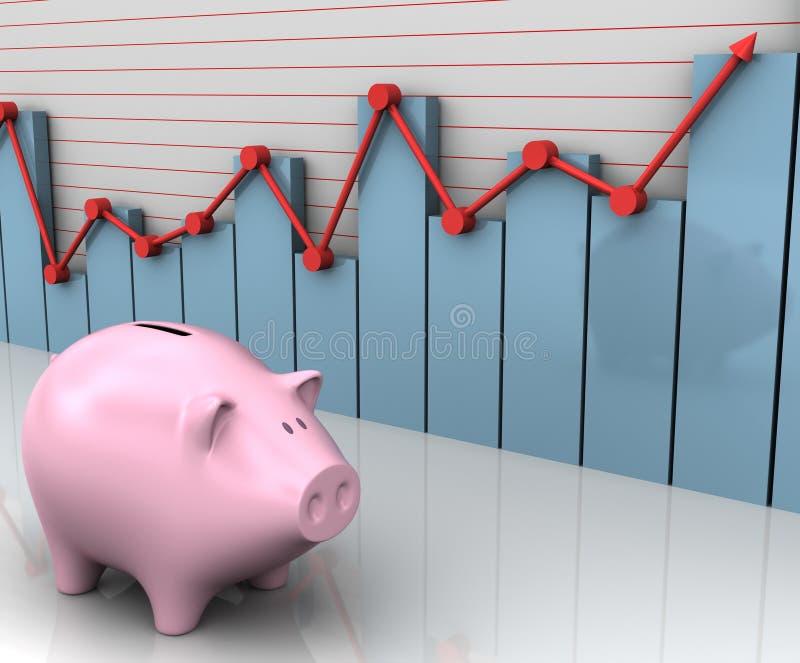 De Zaken van Piggy royalty-vrije stock foto