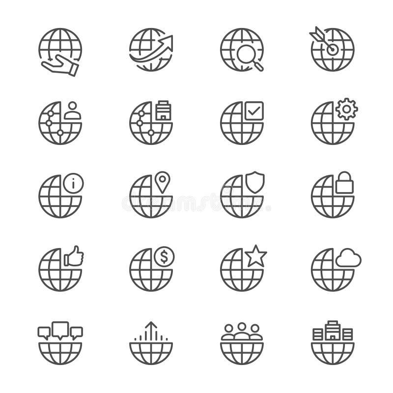 De zaken verdunnen pictogrammen royalty-vrije illustratie