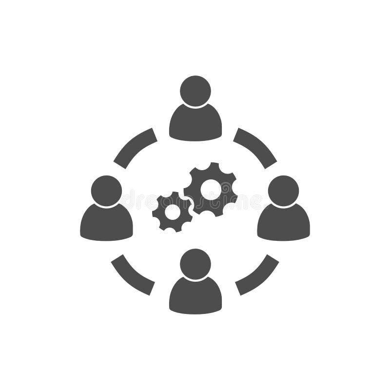 De zaken werken pictogram vectorbeeld samen stock illustratie