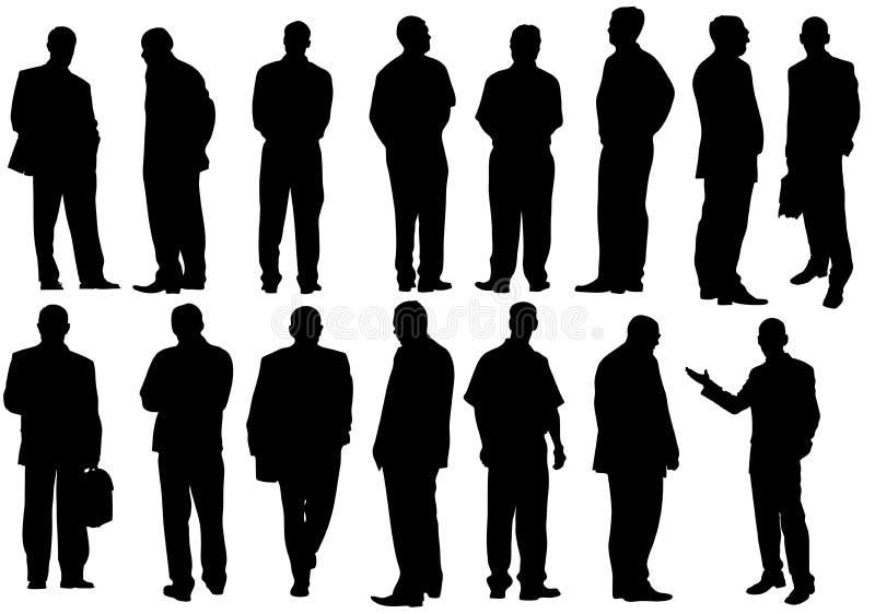 De zakenlieden groeperen zich stock illustratie