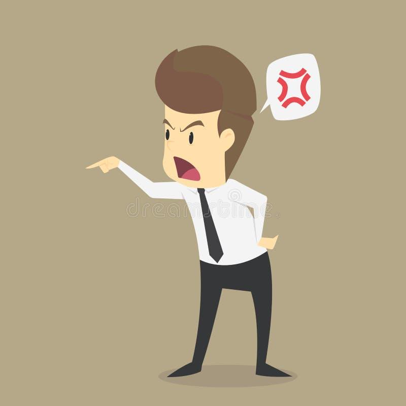 De zakenlieden moeten geërgerd voelen vector illustratie