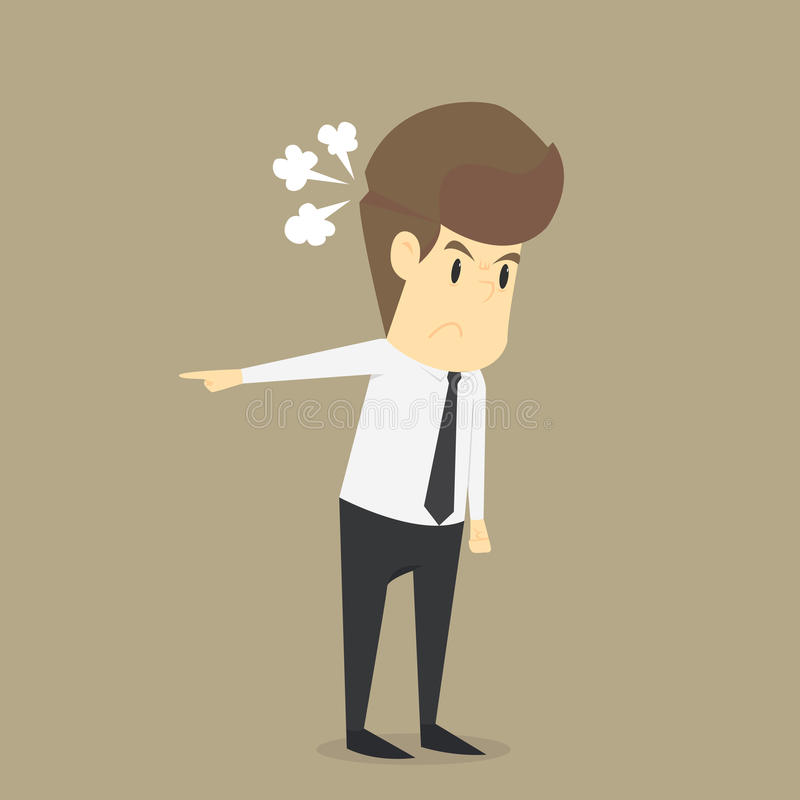 De zakenlieden moeten geërgerd voelen stock illustratie