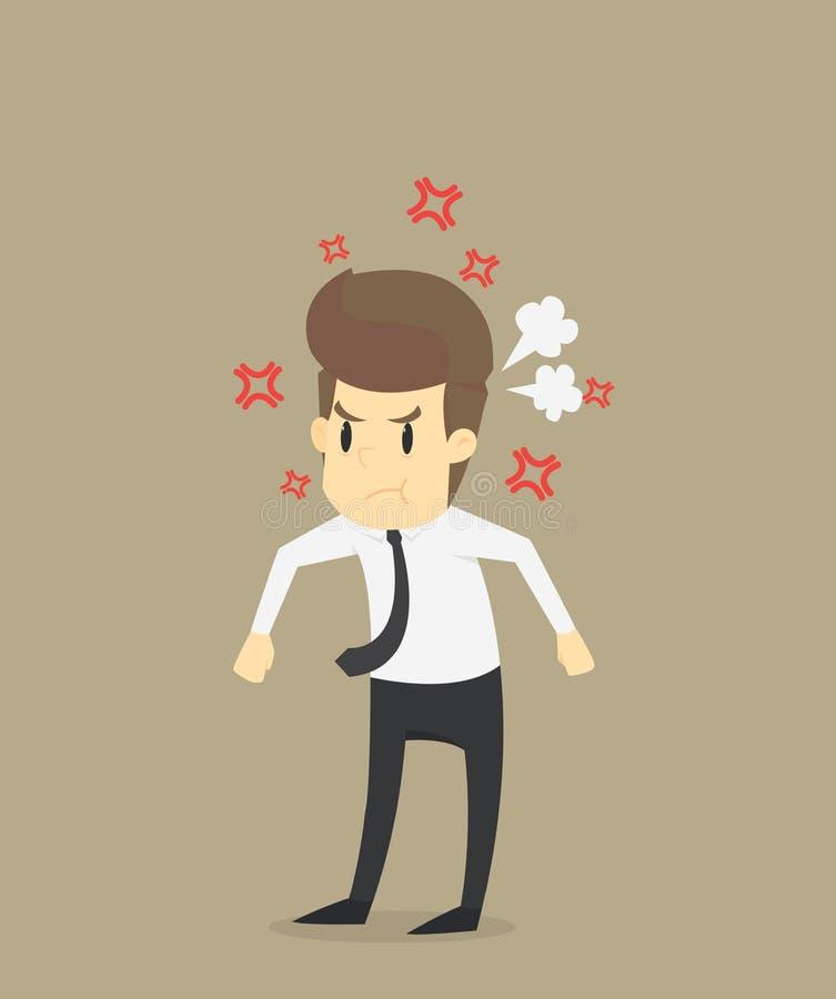 De zakenlieden moeten geërgerd voelen royalty-vrije illustratie