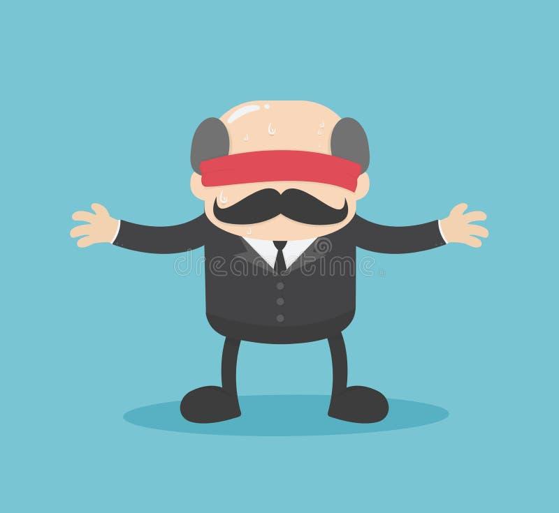 De Zakenlieden van het bedrijfsillustratieconcept worden geblinddocht wie ca vector illustratie