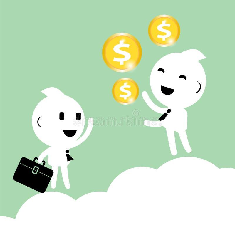 De zakenman bespreekt visie van businessplan Abstracte zaken royalty-vrije illustratie