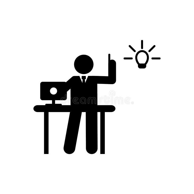 De zakenman, creatief idee, denkt pictogram Element van het pictogram van het zakenmanpictogram Grafisch het ontwerppictogram van vector illustratie