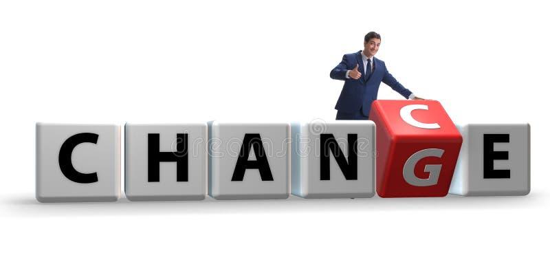 De zakenman die kans voor verandering nemen vector illustratie