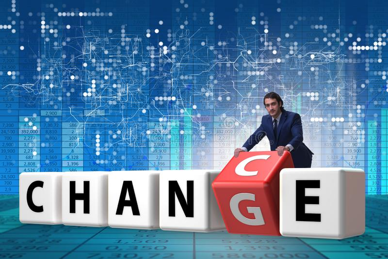 De zakenman die kans voor verandering nemen royalty-vrije illustratie