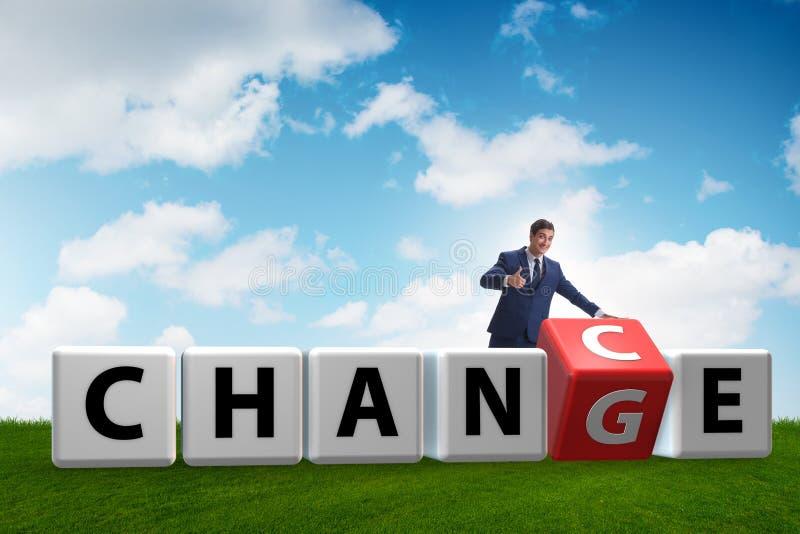 De zakenman die kans voor verandering nemen royalty-vrije stock foto's
