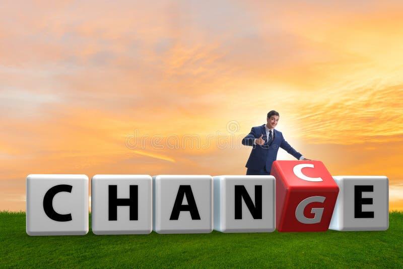 De zakenman die kans voor verandering nemen stock fotografie