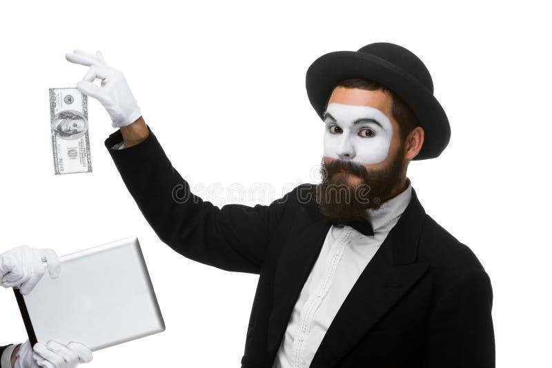 De zakenman dient de vorm van in nabootst uittreksel royalty-vrije stock fotografie
