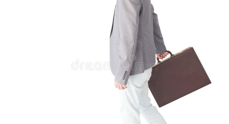De zakenman draagt de aktentas royalty-vrije stock foto's