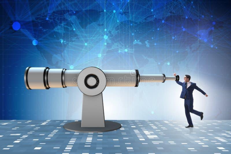 De zakenman in financiële plannings bedrijfsconcept royalty-vrije stock afbeeldingen