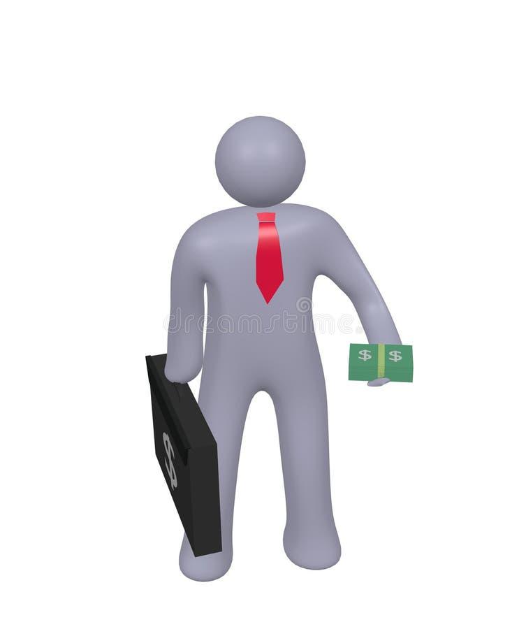 de zakenman geeft u de gelddollar royalty-vrije stock afbeelding