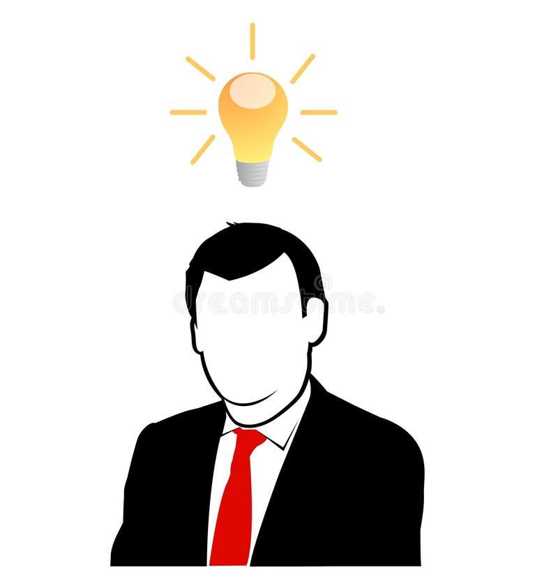 De zakenman heeft nieuw idee royalty-vrije illustratie