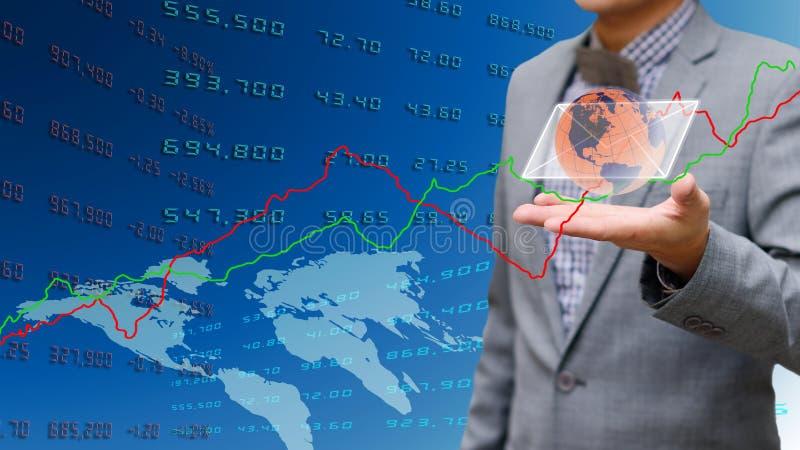 De zakenman krijgt e-mail van beurs royalty-vrije stock afbeeldingen