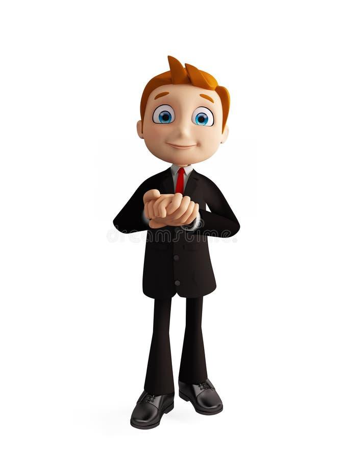 De zakenman met belofte stelt stock illustratie
