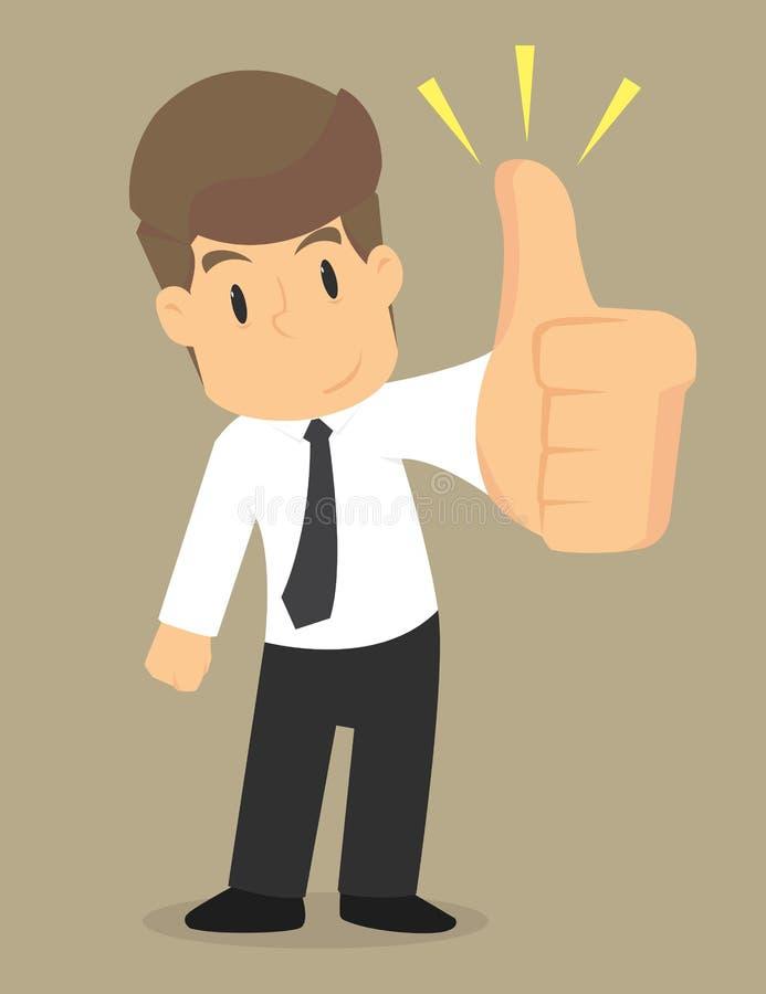 De zakenman toont duim royalty-vrije illustratie