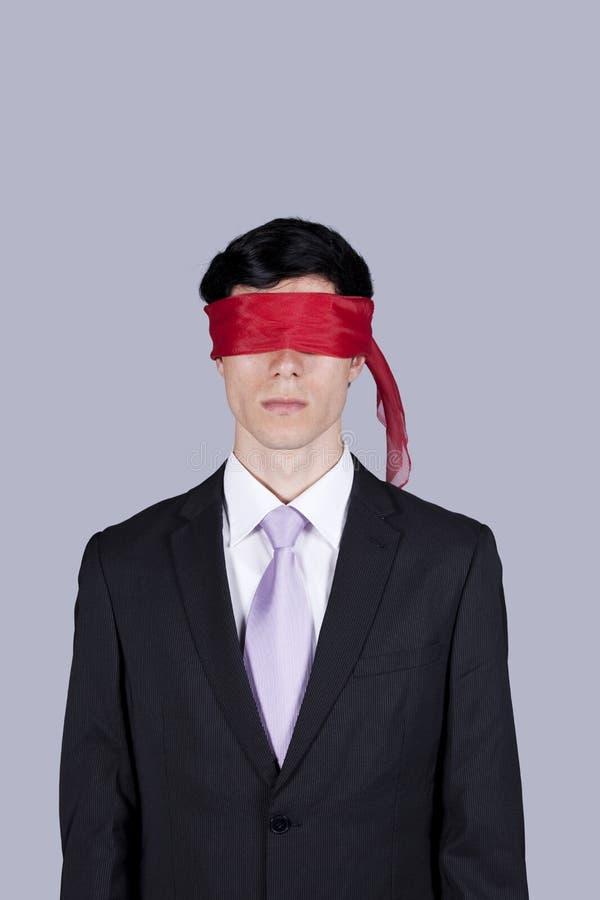 De zakenman van de blinddoek stock foto's