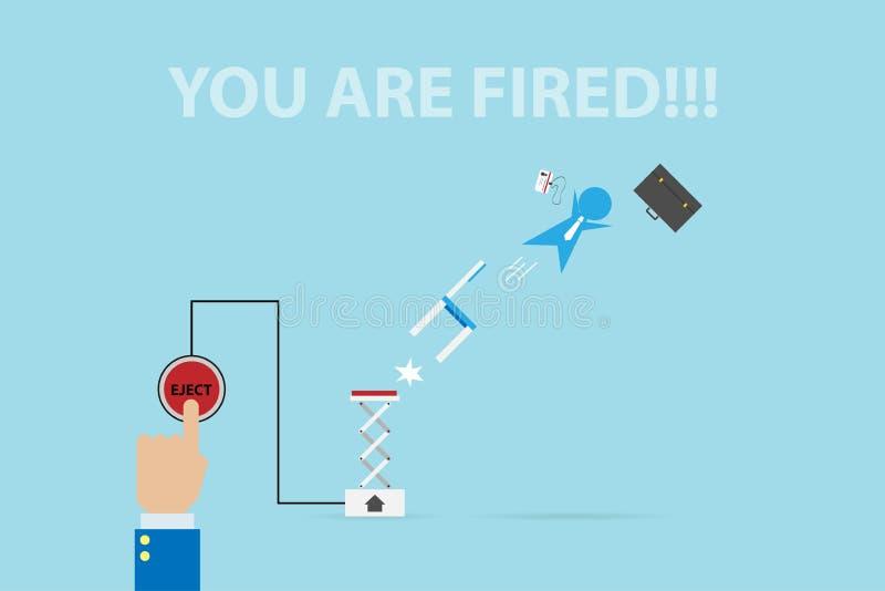 De zakenman van de managerspruit van kanon, menselijk hulpbron en bedrijfsconcept vector illustratie