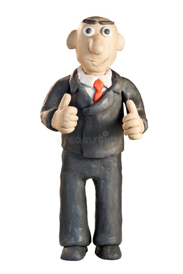 De zakenman van de plasticine stock fotografie