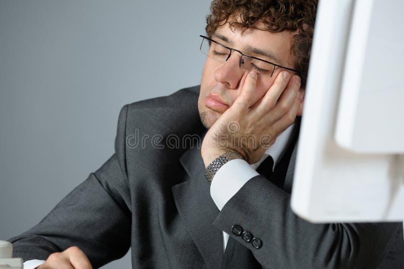 De zakenman van de slaap stock foto's