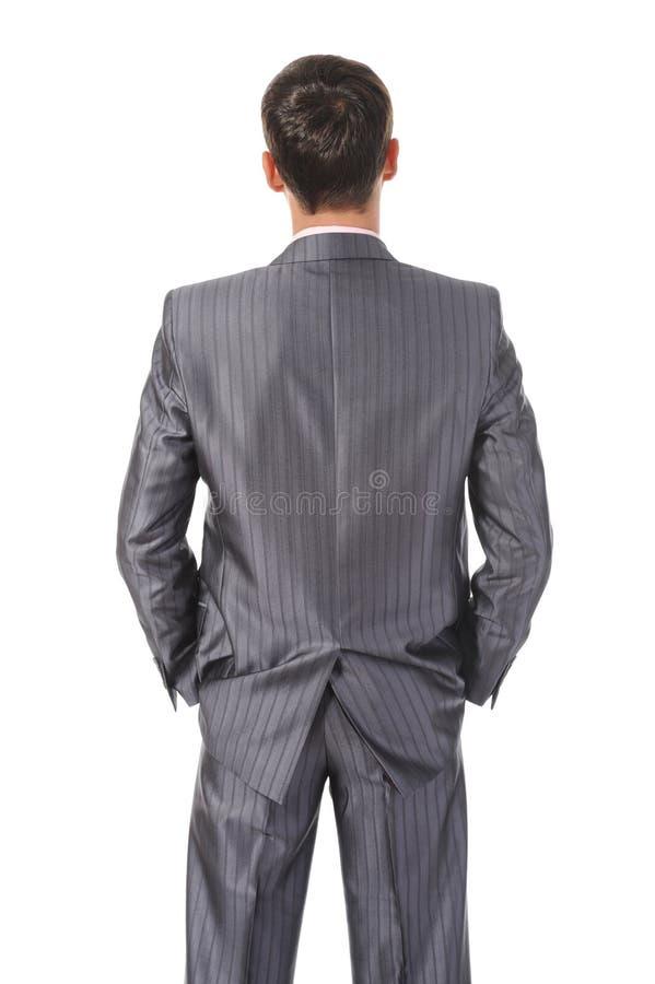 De zakenman van het beeld erachter stock afbeeldingen