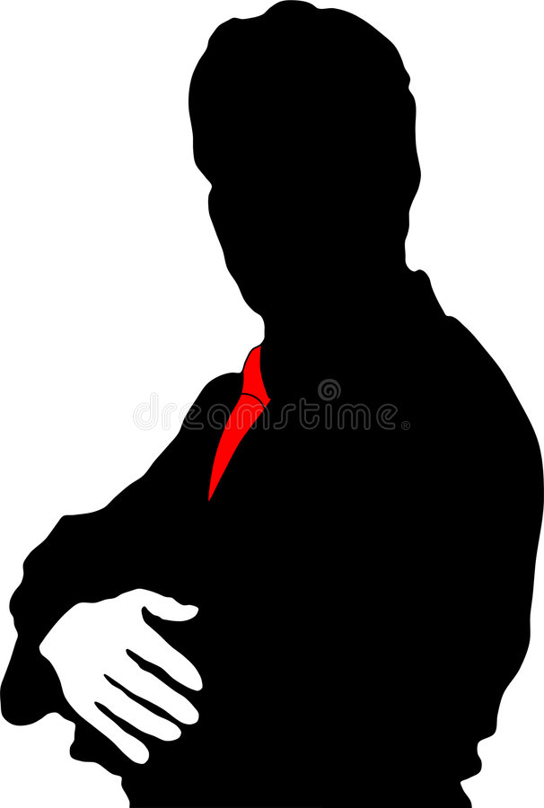 De zakenman van het silhouet vector illustratie