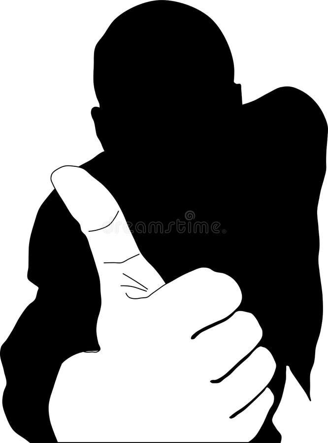 De zakenman van het silhouet royalty-vrije illustratie