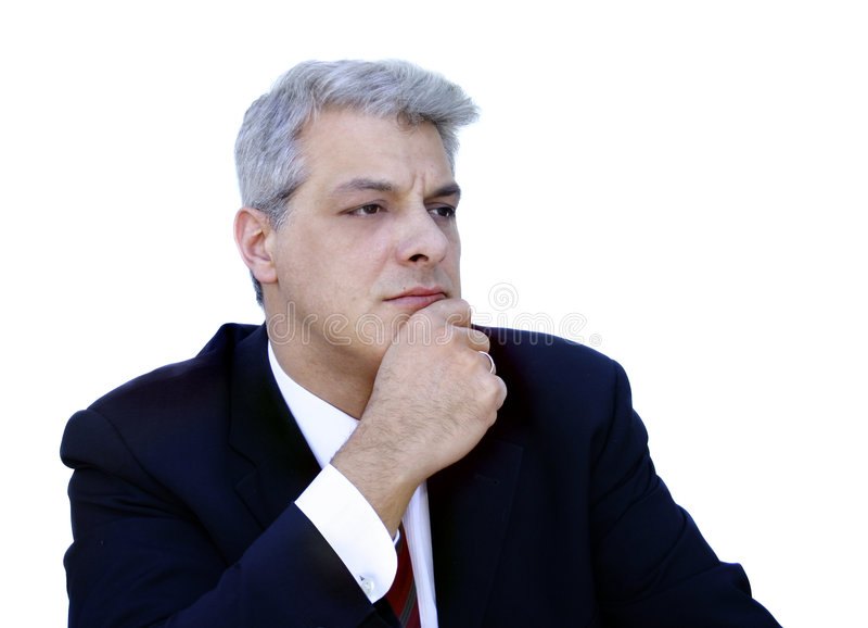 De zakenman van Thinkful royalty-vrije stock afbeeldingen