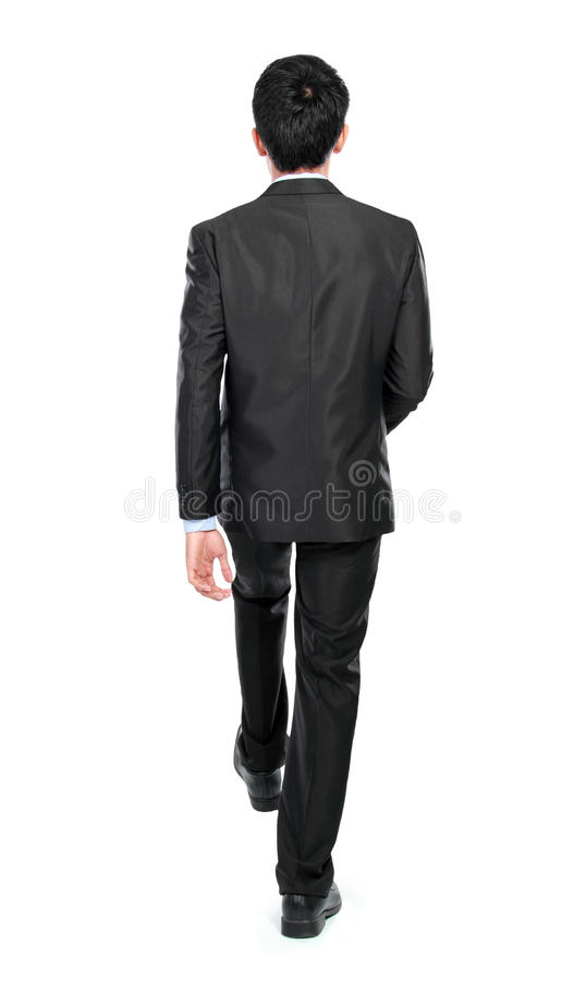 De zakenman voert de treden op stock foto