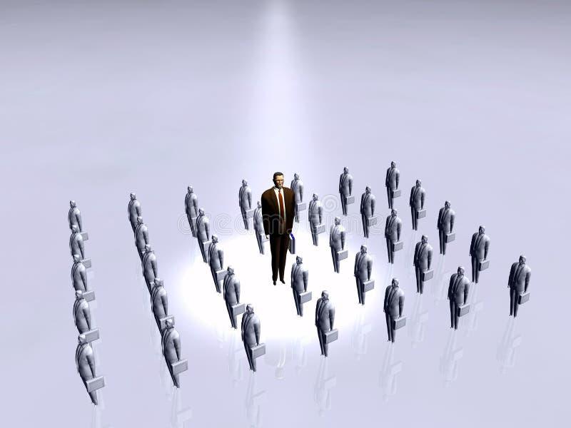 De zakenman, wie is de werkgever? royalty-vrije illustratie