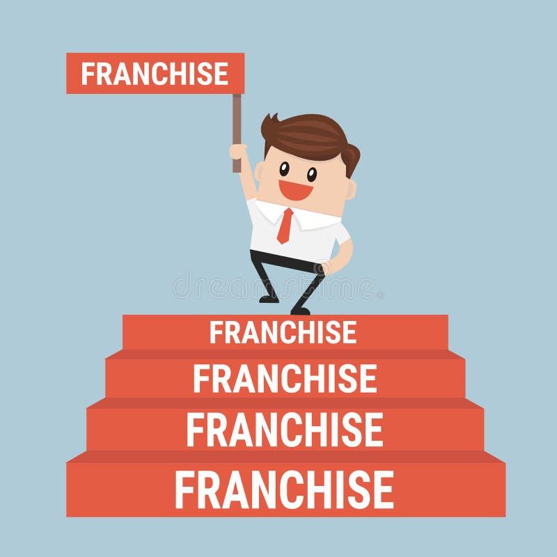 De zakenman wil zijn zaken, Concessieconcept uitbreiden stock illustratie