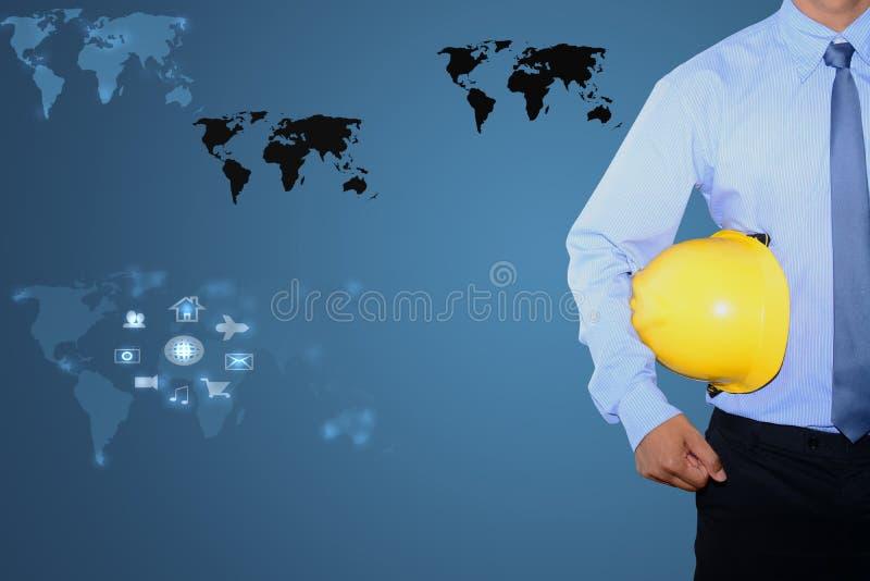 Download De Zakenmanhand Trekt Toestel Aan Succes Stock Foto - Afbeelding bestaande uit zaken, vooruitgang: 39114828