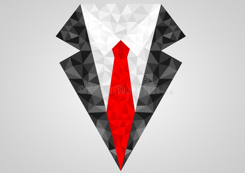 De zakenmanontwerp van het smokingpictogram met textuur vector illustratie
