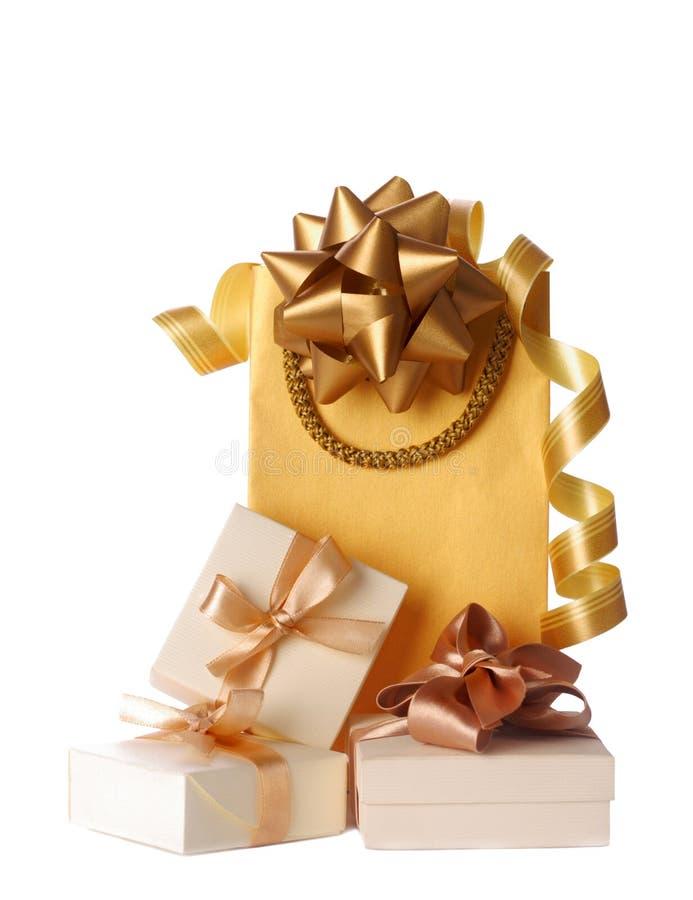 De zakken van de gift stock foto's