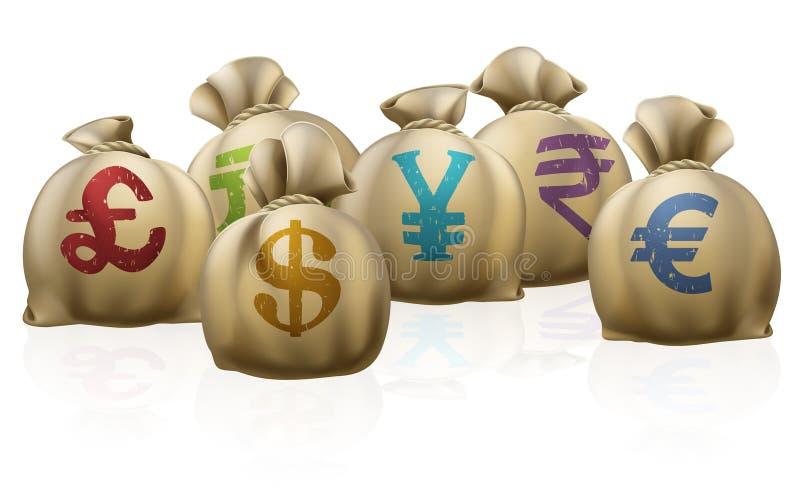 De zakken van het geld royalty-vrije illustratie